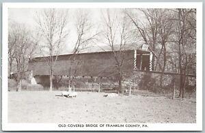 FRANKLIN-COUNTY-PA-OLD-COVERED-BRIDGE-VINTAGE-POSTCARD