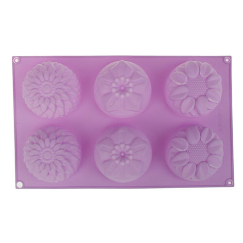 Silicone Soap Mold Flower Pattern Rectangular Handmade Soap Making DIY Mould FD