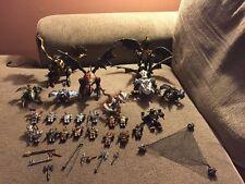 Mega Blok 8 Dragons, 15 Figures large lot & Weapons & Dragon