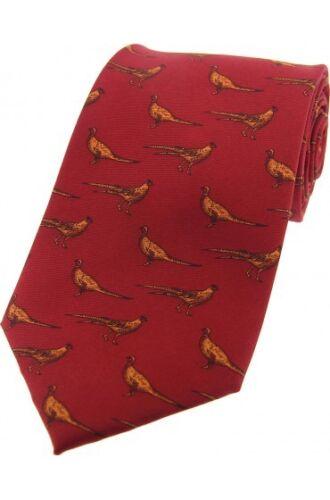 SOPRANO IN PIEDI FAGIANI ROSSO SETA Cravatta Men/'s Game Paese Caccia TIRO T035