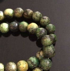 Strand-50-Beads-Chinese-Azurite-8mm-Plain-Round-Beads