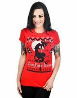 Babydoll T-shirt Krampus Merry F Hoilday Misbehaving Alternative By Too Fast