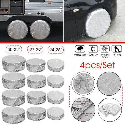 "4 X Anti-UV Wheel Tire Covers For RV Trailer Camper Car Truck  27/""-29/"" 2W"