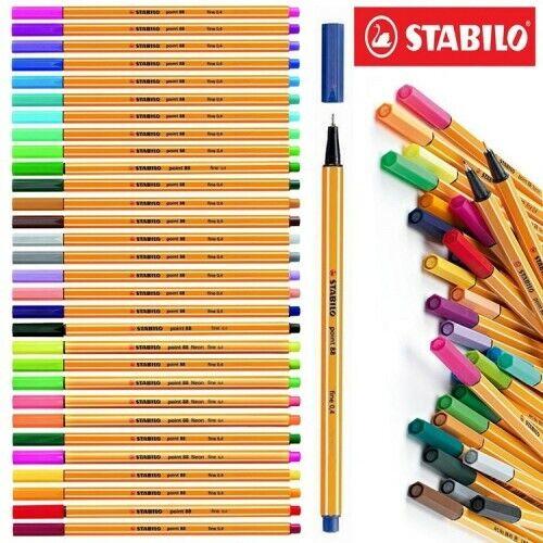 Per #0015 PENNA STABILO POINT 88 FINELINER FINE 0,4 Colore NERO 88-46