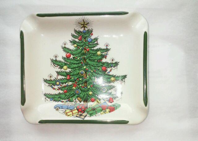 Vintage Cuthbertson Original Christmas Tree Ash Tray Ashtray England Wide  Lines - Vintage Cuthbertson Original Christmas Tree Ash Tray Ashtray England