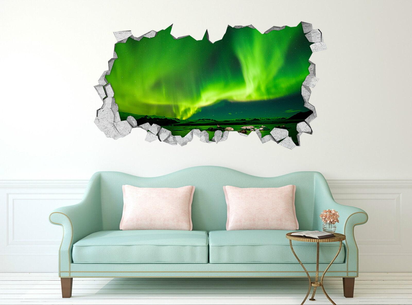 3D greenes Licht 454 Mauer Murals Aufklebe Decal Durchbruch AJ WALLPAPER DE Lemon
