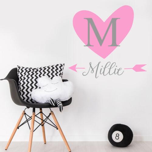 Custom-Baby-Girl-Name-Heart-Personalise-Bedroom-Wall-Sticker-Nursery-Decal-Decor
