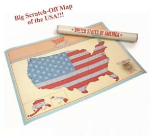 Scratch Where You Been In Usa Scratch Off Map United States America