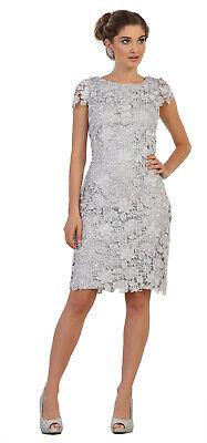 SEMI FORMAL DESIGNER MOTHER of THE BRIDE GROOM SHORT DRESS KNEE LENGTH PLUS  SIZE | eBay
