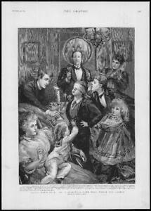 1893-FINE-ART-Antique-Print-ILLUSTRATIONS-Sydney-Hall-Blind-Mans-Puff-277