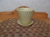 Vintage Brush McCoy Pottery Flower Pot/Planter #326 W/Attached Saucer *EVC*