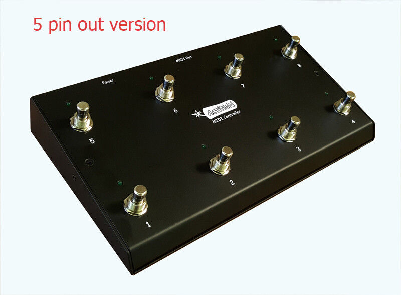 NEW - ActitioN 8 Button MIDI Footswitch, Foot Controller