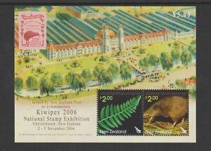 New Zealand - 2006, Kiwipex '06 Stamp Exh. Christchurch sheet - MNH - SG MS2923