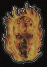 Flaming Terminator Head T2 3D Universal Studios Pin