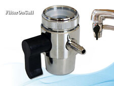 """Lead Free Faucet Adapter Diverter Valve RO Water Filter System for 1/4"""" tubing"""