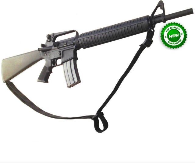 "1.25/"" X 72/"" Rifle /& Shotgun Heavy Web Sling ADJUSTABLE 2 POINT ATTACH BLACK US"