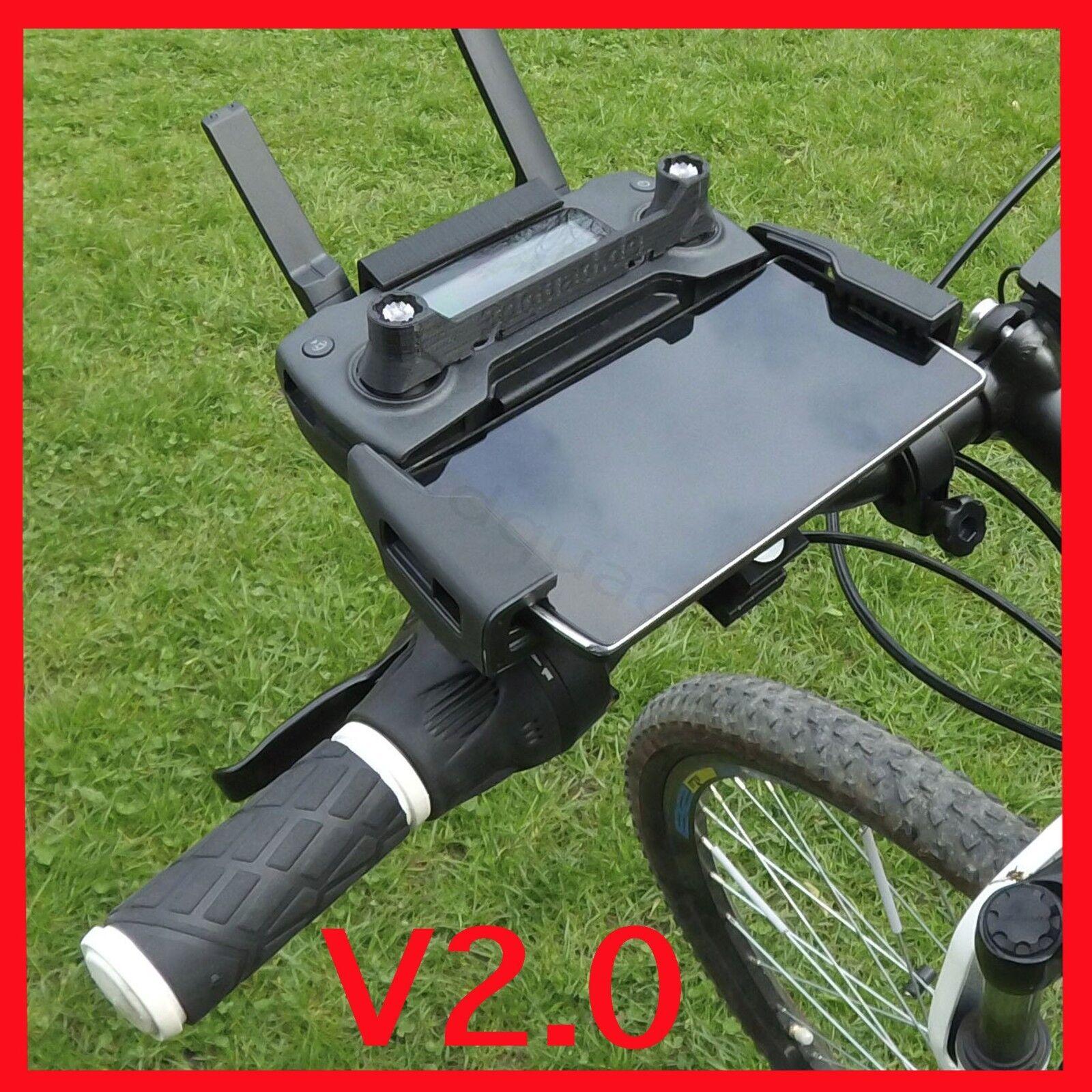 DJI Mavic 2  Pro  Zoom  Air  Spark, Sender Fahrrad Halterung, Bike Mount NEU..
