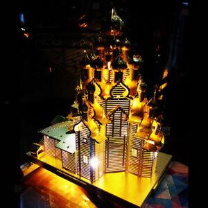 Architecture-3D-Metal-Puzzle-Toy-Russie-La-statue-de-l-039-eglise-de-la