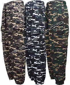 Armée homme camouflage combat camo en polaire pantalon de jogging pantalon pantalon S-XXL