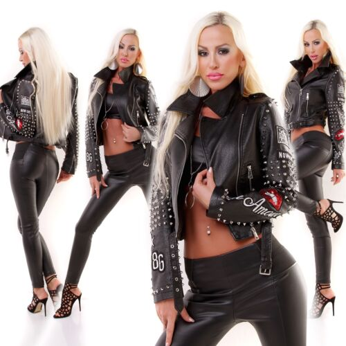 Læder 12 stilfulde 8 10 Limited Look Uk Edition Biker Goth Kvinders Style Jacket Otwdqw