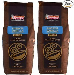 Dunkin Donuts Five Pounds New Bags French Vanilla Coffee ...