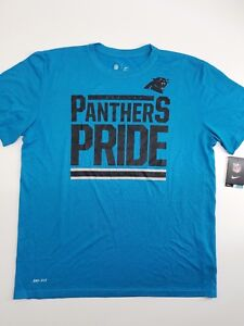 NWT XL NIKE Carolina Panthers NFL PRIDE Tee Blue Men s T-shirt Dri ... 48844e8b7
