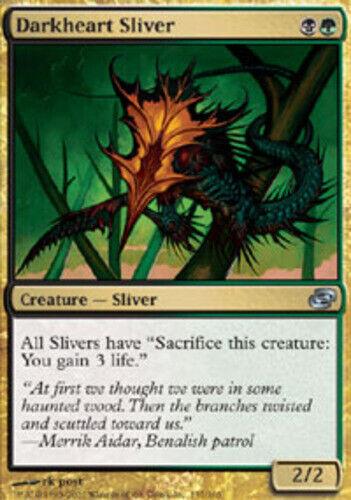 1x Darkheart Sliver Light Play English Planar Chaos MTG Magic