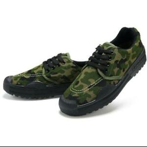 men's casual canvas lace up work camo military combat