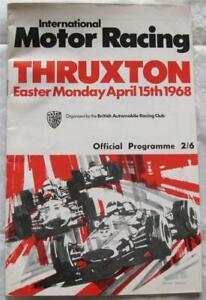 THRUXTON 15 Apr 1968 International Motor Racing BARC Official Programme