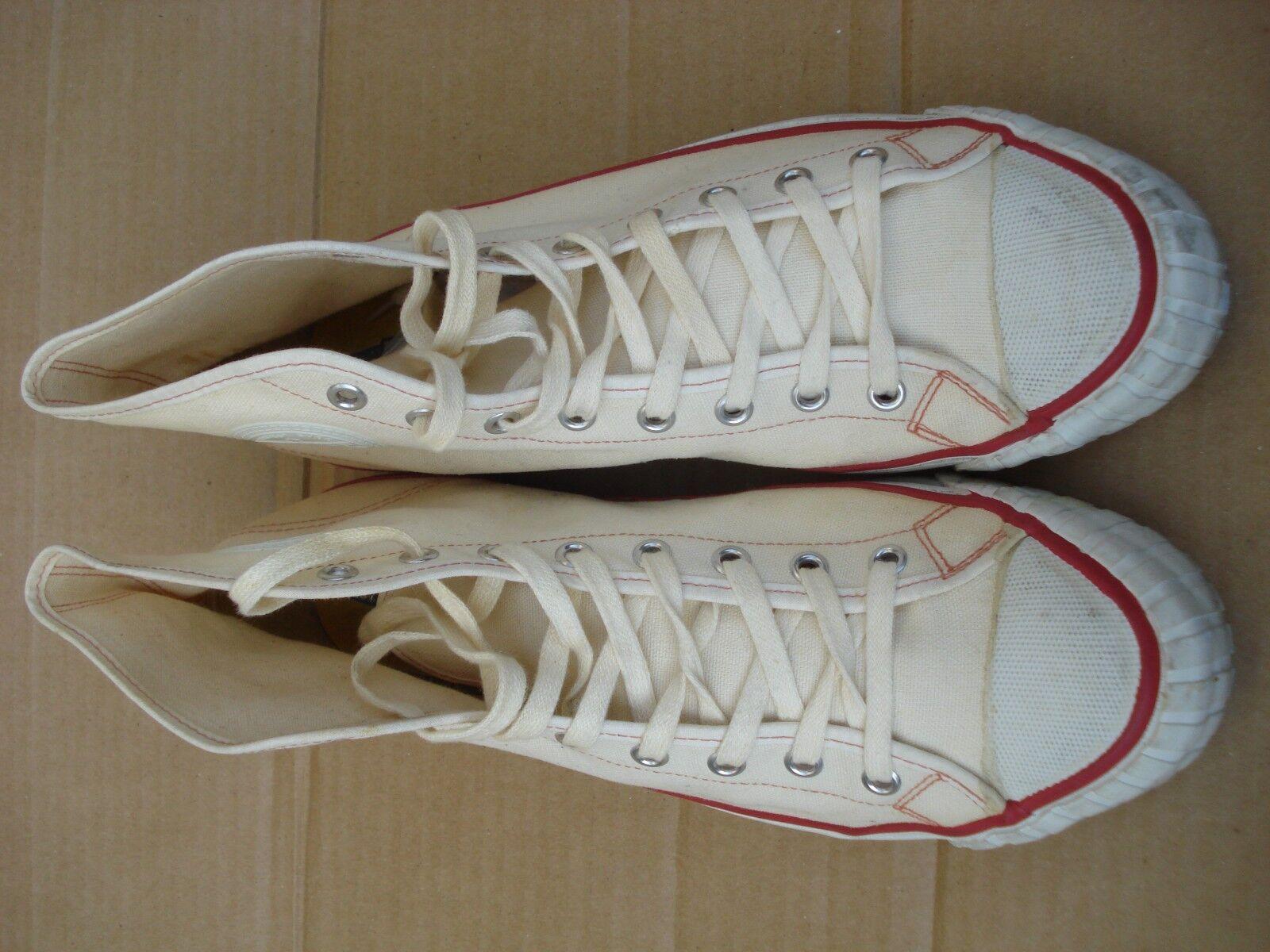 Vtg Bata scarpe Mens Dimensione 9.5 Off bianca Hi Made In U.S.A.