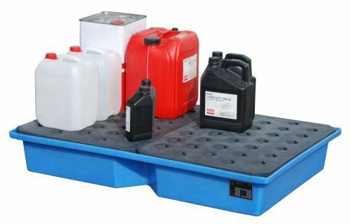 Paletten Typ KWP-P f PE-Auffangwannen f /& Chemiepal. Kleingebinden auf Euro