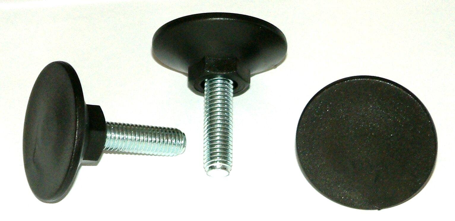 300 x M10x33x48 -- SW17 Stellfuß Verstellfuß Möbelfuß Stellschraube Stellteller