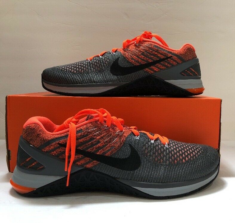Men's Nike Metcon DSX Flyknit Shoes Training Size 13 Grey/Wolf Grey 852930-010