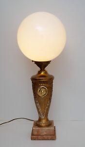 Grosse-Jugendstil-Prunkleuchte-Tischlampe-Schreibtisch-Amphorenleuchte