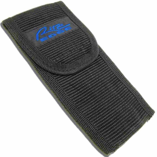 """Black 1680D nylon const Rite Edge Sheath Fits most 4 1//2/"""" closed folding knives"""