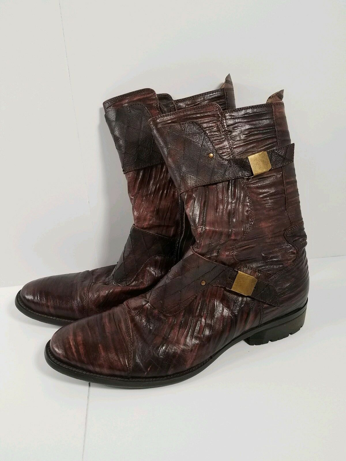Mens Type Z  Leather Laurel Boots Size 8.5