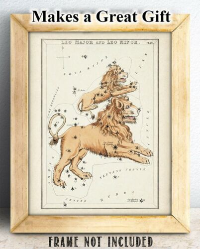 Antique Zodiac Leo Constellation Plate 11x14 Unframed Art Print Home Decor