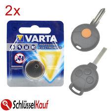 2x VARTA Autoschlüssel Batterie für Smart Fortwo 450 451 Forfour W 454 Roadster
