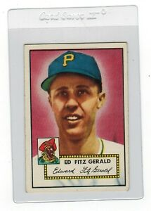 Details About 1952 Topps Ed Fitz Gerald Pittsburgh Pirates 236 Baseball Trading Card