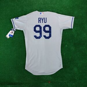 Hyun Jin Ryu Los Angeles Dodgers Authentic Cool Base Road Jersey (40 ... 5263c71d66e