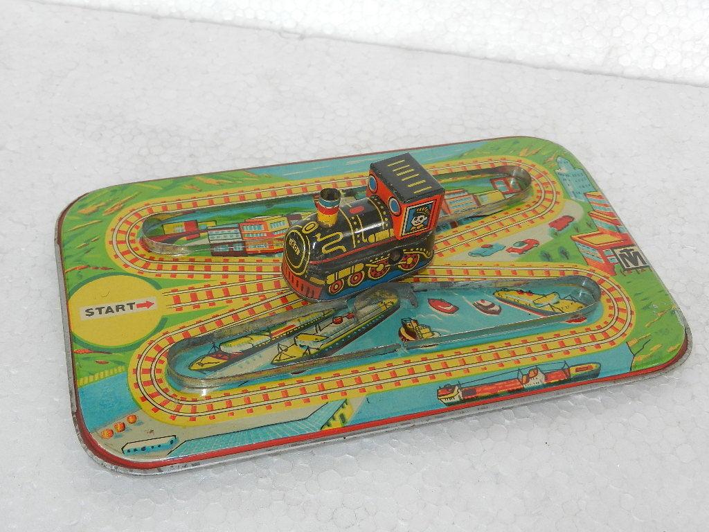 Vintage Wind Up Up Mt Marca Litografía tren con pista de juguete de estaño, Coleccionable  encuentra tu favorito aquí