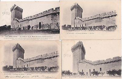 Helder Lot De 4 Cartes Postales Anciennes Beaucaire 4 Mooi Van Kleur
