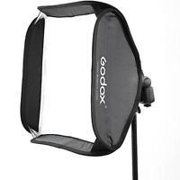 Godox S-Type Bracket Holder Bowens Mount With 80x80cm Speedlite Foldable Softbox