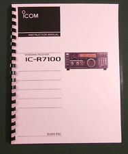 Icom IC-R7100 Instruction Manual - Premium Card Stock Covers & 28 LB Paper!