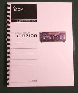 Premium Card Stock Covers /& 28LB Paper! Icom IC-R75 Instruction Manual