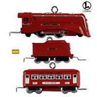 Hallmark 2009 The Red Comet Lionel Set Of 3 Miniature Ornaments