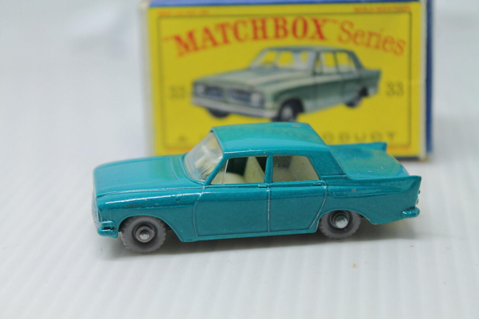 Matchbox series nº 33  Ford Zephyr 6  embalaje original  Lesney