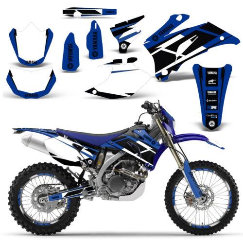Yamaha WR250F 250F 07-14 WR450F 450F 07-11 Grafik Set Dirt Bike Decals Hurr Blu  7THmq