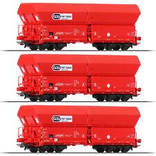 + 3 Stück NEU /& OVP Roco 56333 H0 Selbstentladewagen der DR +