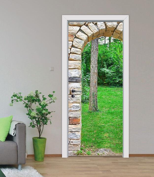 3D Grasland Tür Wandmalerei Wandaufkleber Aufkleber AJ WALLPAPER DE Kyra